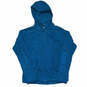 The North Face Full Zip Blue Stripped Jacket-SZ XS